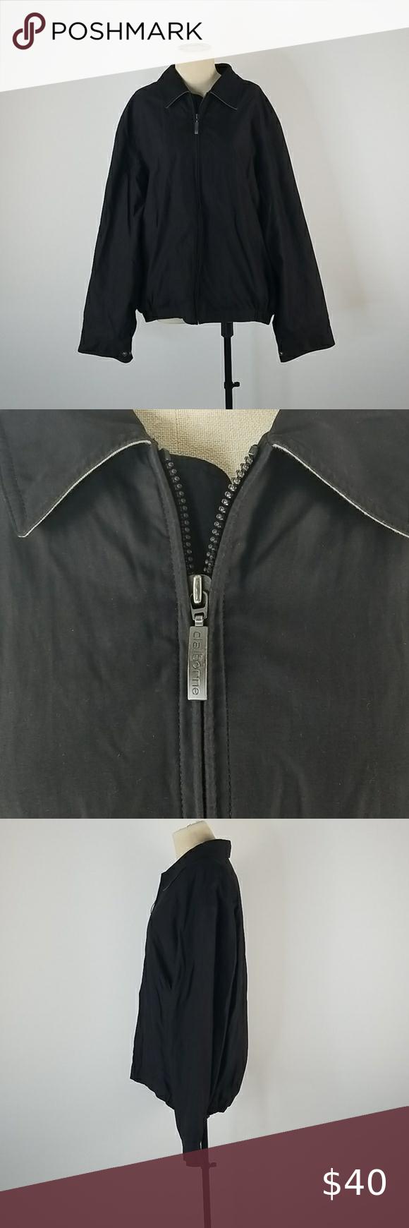 Claiborne Outerwear Sports Rain Jacket Black And White Scarf Clothes Design Wool Blend Jacket [ 1740 x 580 Pixel ]