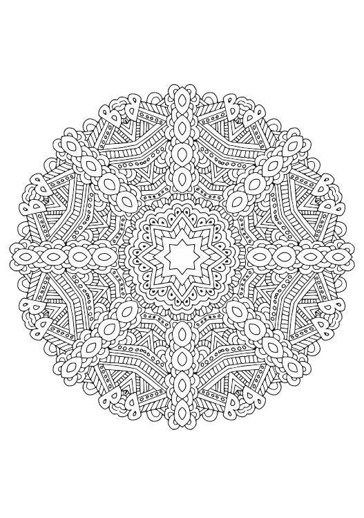 60 mandala coloring pages | Kaleidomania: Printable Adult Coloring ...