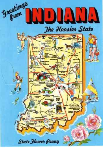 Indiana Indiana State Indiana Indiana Map