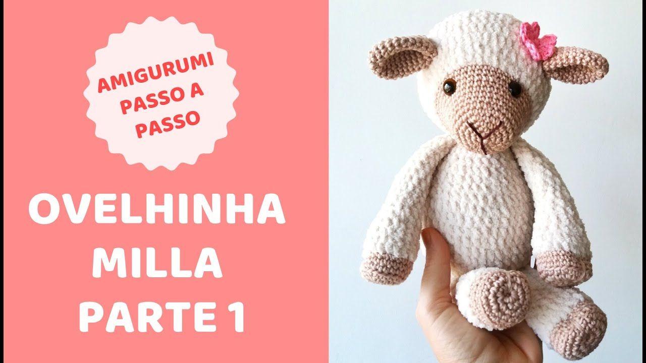 Ovelha em crochê - com gráfico - Croche.com.br | Crochet shark ... | 720x1280