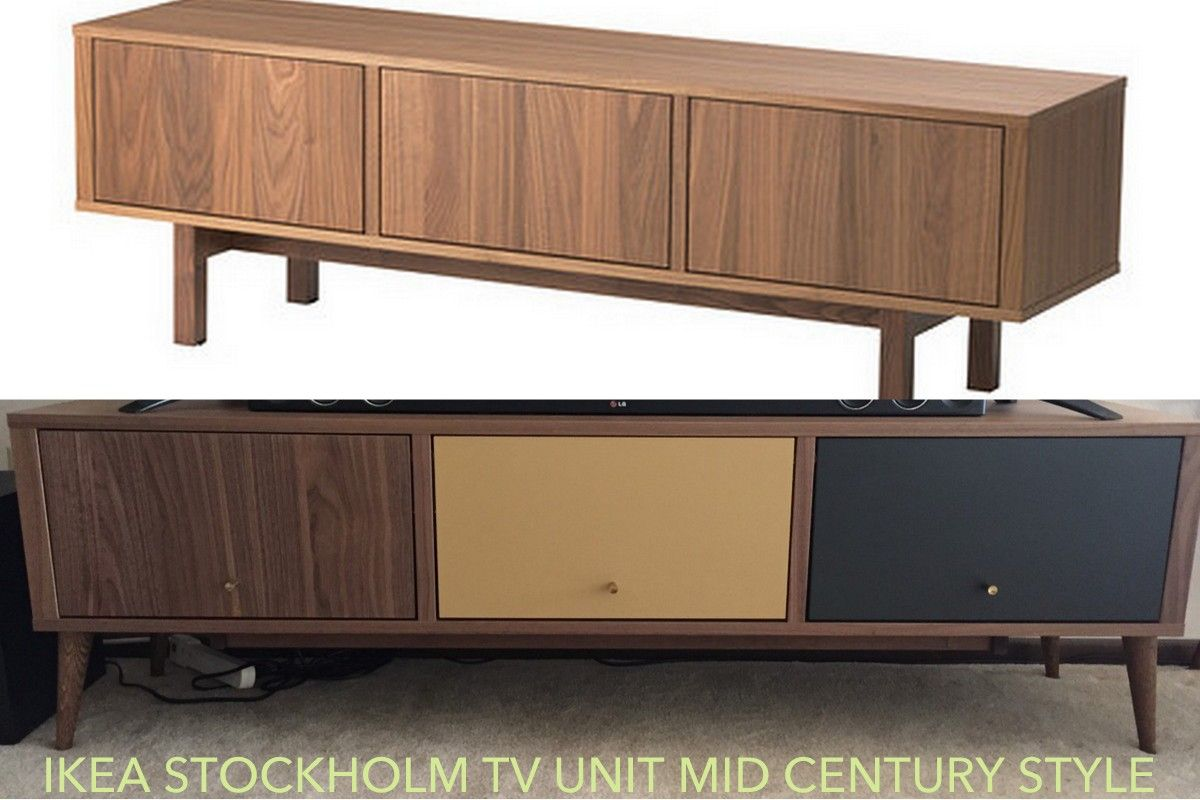ikea stockholm mid century tv stand redo ikea hackers ikea hacks pinterest ikea. Black Bedroom Furniture Sets. Home Design Ideas