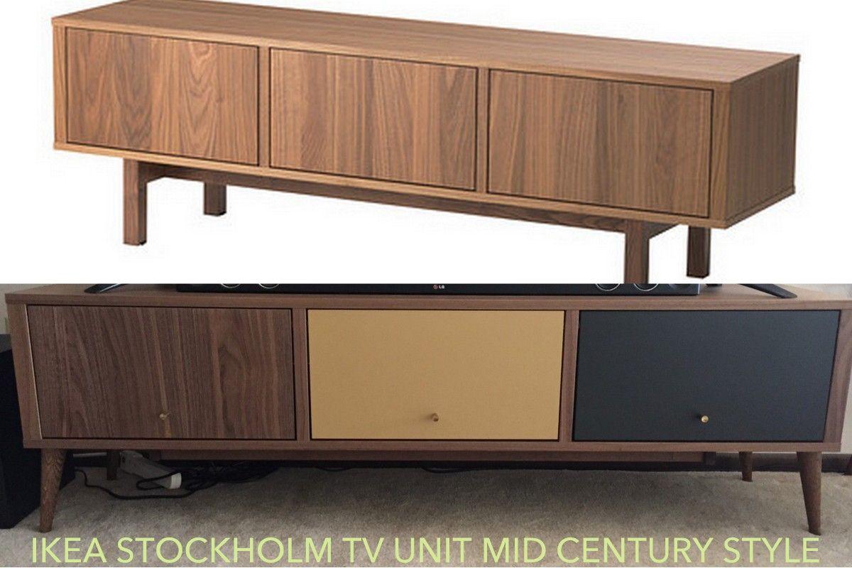 Ikea Stockholm Mid Century Tv Stand Redo Ikea Hackers Ikea Tv
