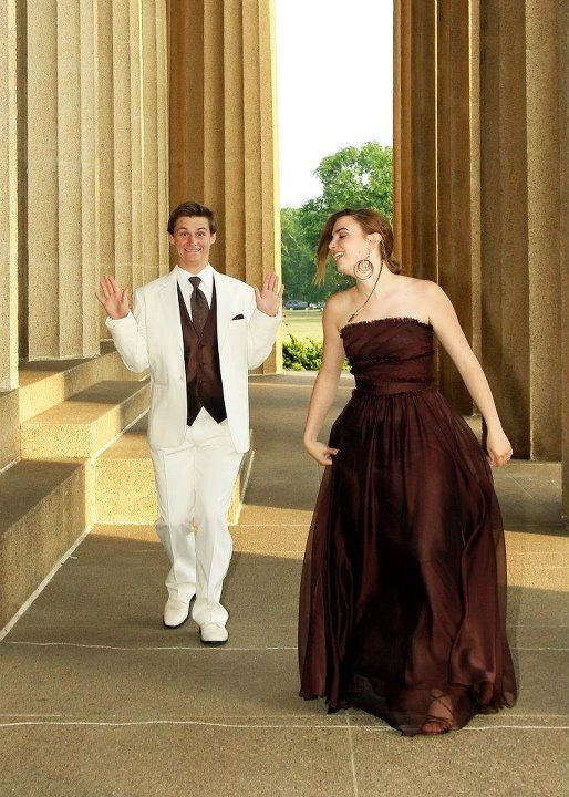 Madi and Jonseth before prom being silly.