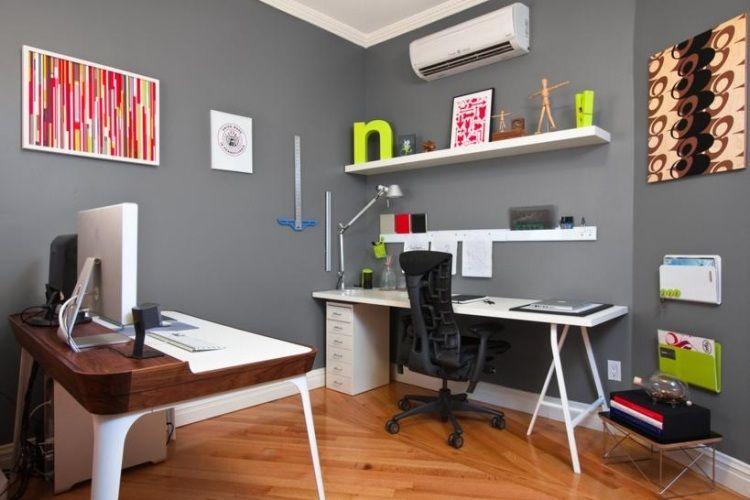 Bureau à domicile moderne aménagement et décoration projets à