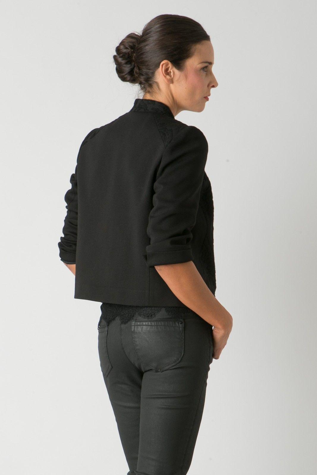 a4d72dad50e035 Veste bi-matière jacquard - Veste City femme de la marque Bréal ...