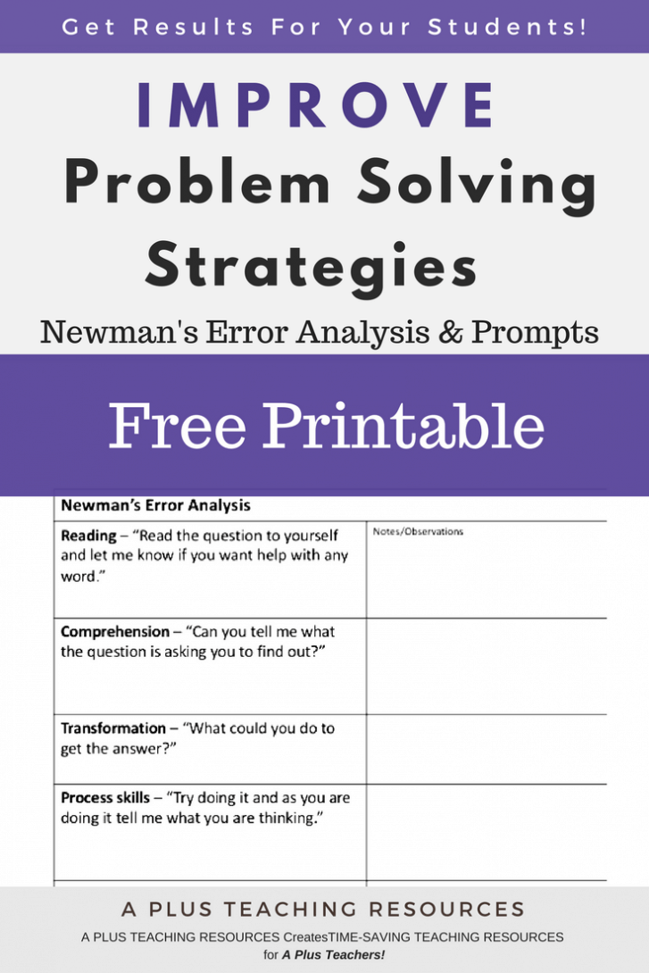 analysis and problem solving skills