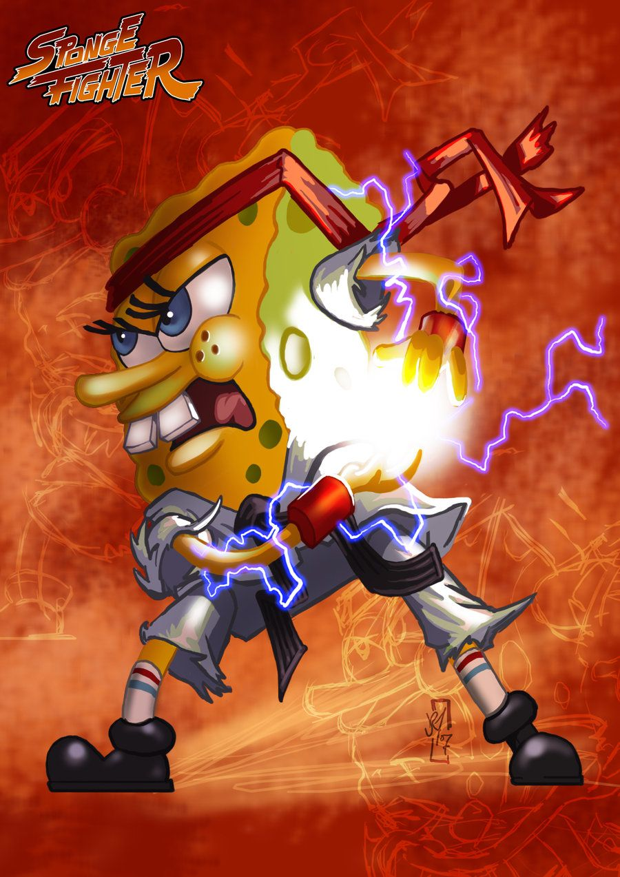 Spongebob Ryu by Daztibbles.