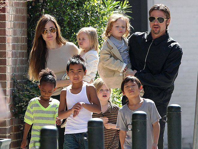 Image result for angelina jolie and brad pitt family