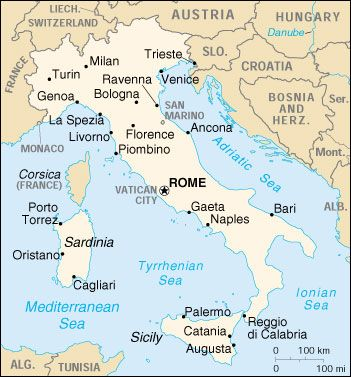 property italy on venice Location Map of Venice geografia