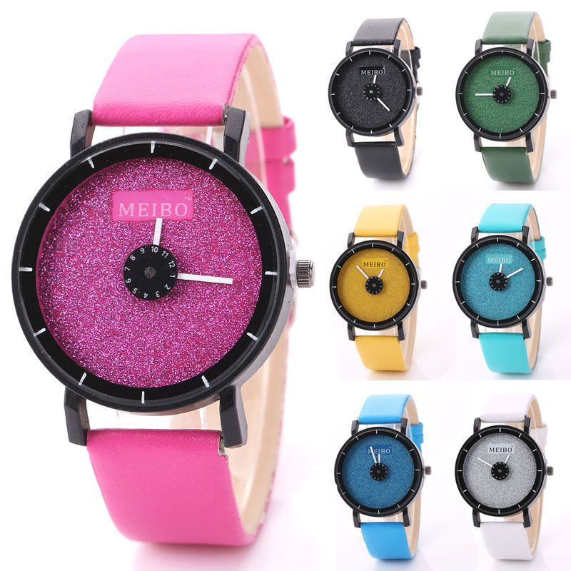 Women's Men's Watch Glitter Meibo Bling Casual Stainless Steel Colorful Wrist #Meibo #Casual