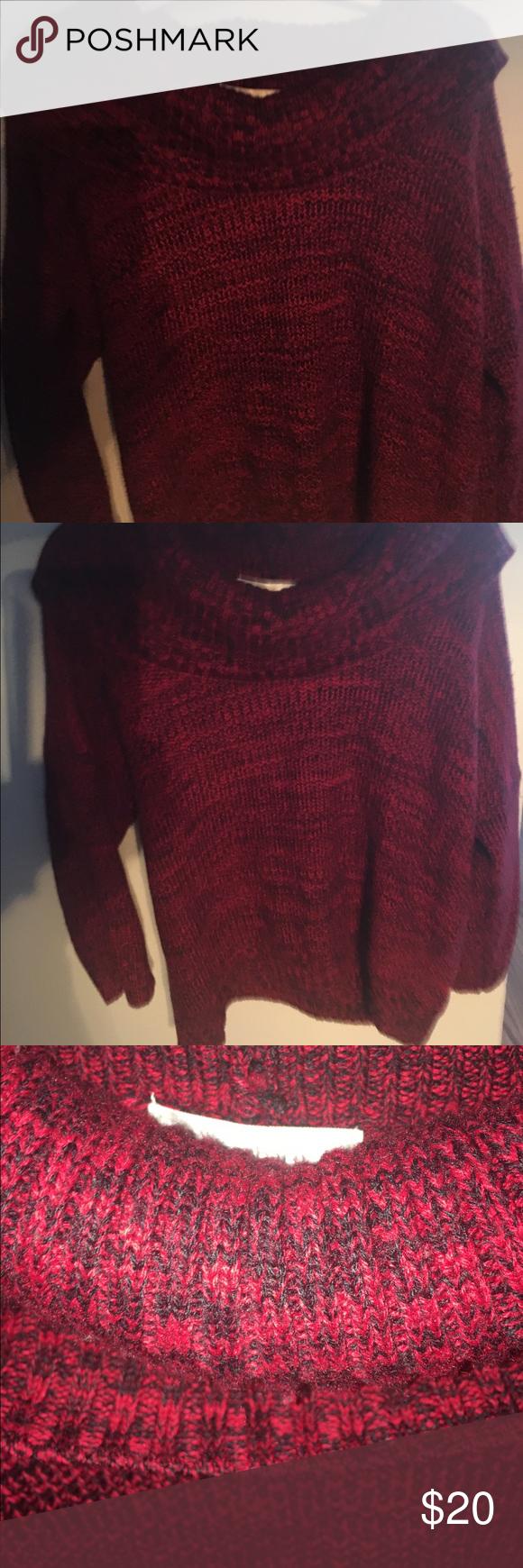 Dress Barn Red & Black Sweater | Red black