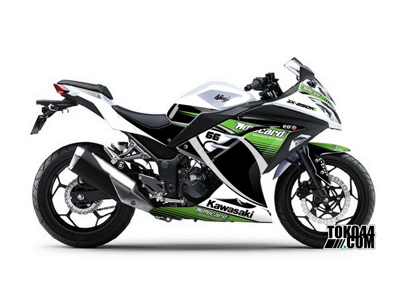 decal sticker ninja 250 fi putih – stiker modifikasi kawasaki