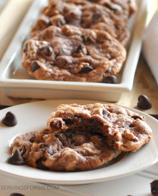 chocolate chip raspberry cookies