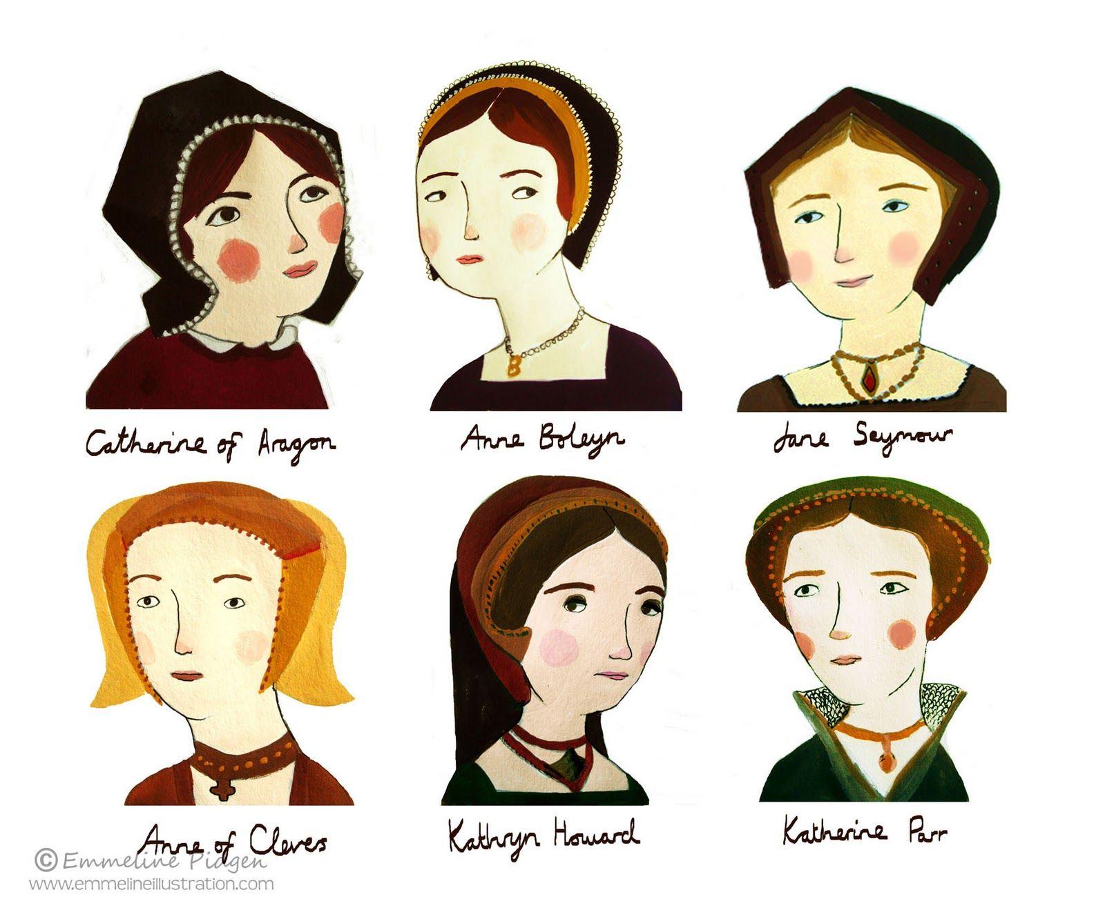 Six Wives Of Henry Viii By Emmeline Pidgen They All Look