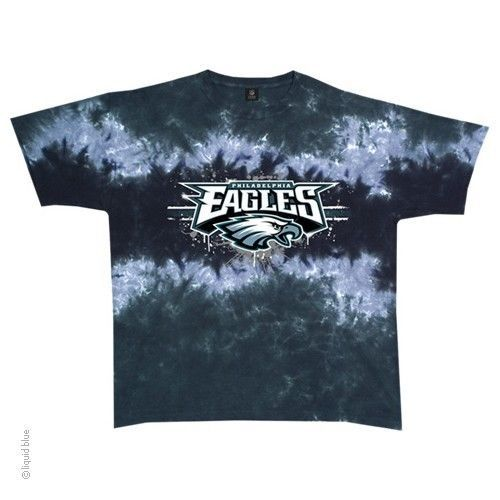 New PHILADELPHIA EAGLES HORIZONTAL STENCIL  Tie Dye T-Shirt NFL LICENSED   DenverBroncos 92e8c81e3