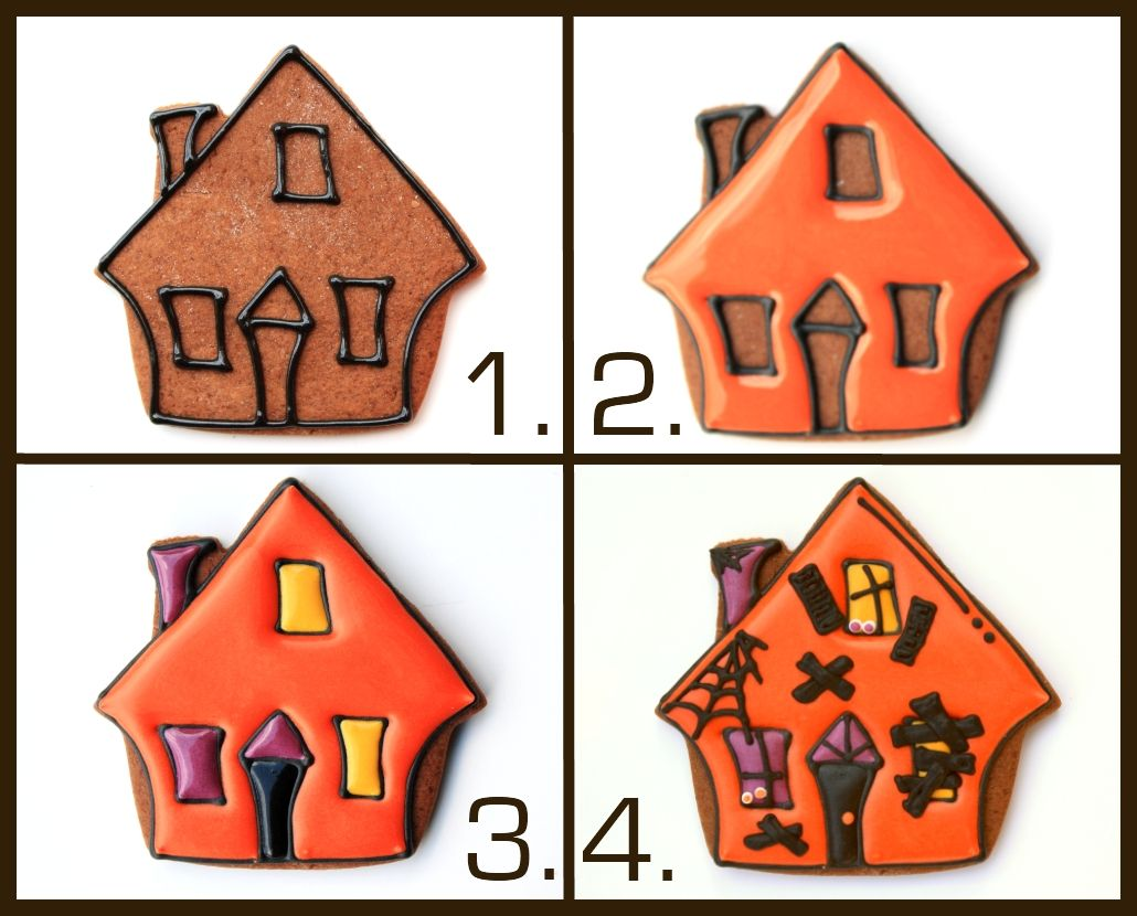 """How to decorate your very own #HauntedHouse #Halloween #Cookies by #LilaLoa Check it out in our """"design Ideas"""" section."""