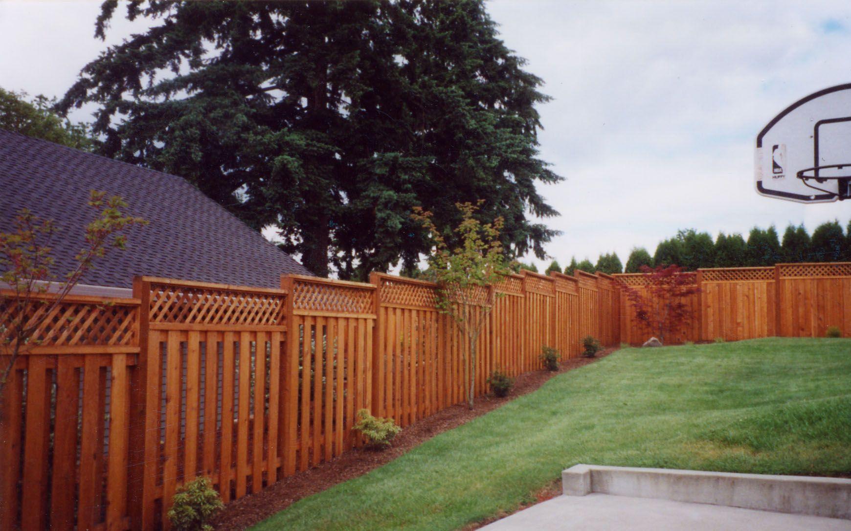 Fence Idea Wood Fence With Lattice 503 760 7725 Fence