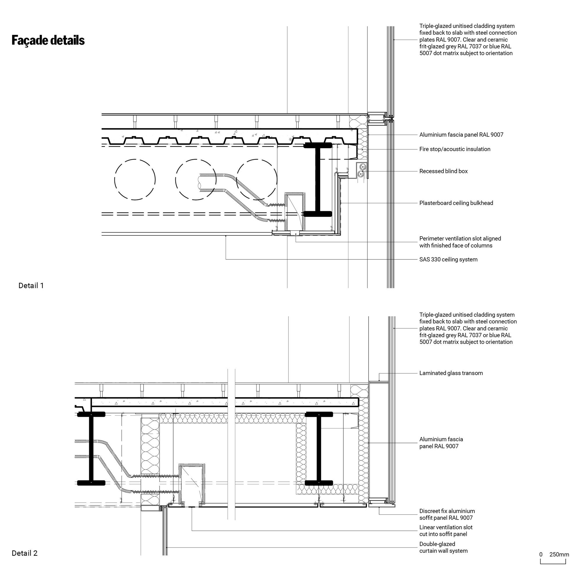 Glass Curtain Wall Soffit Detail Google Search In 2020 Glass