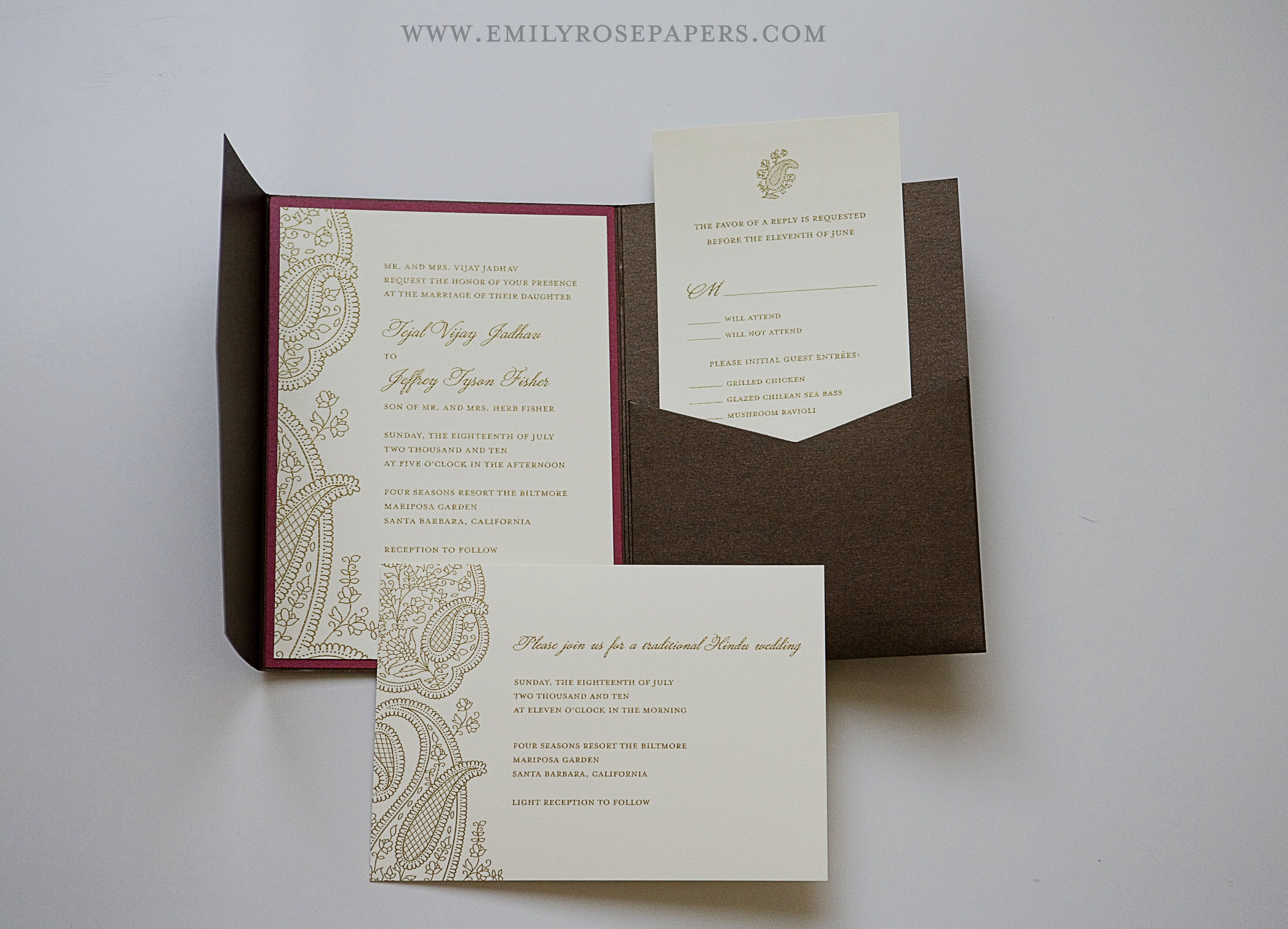 handmade #wedding #invitations #pockets #motifs | Wedding Ideas ...
