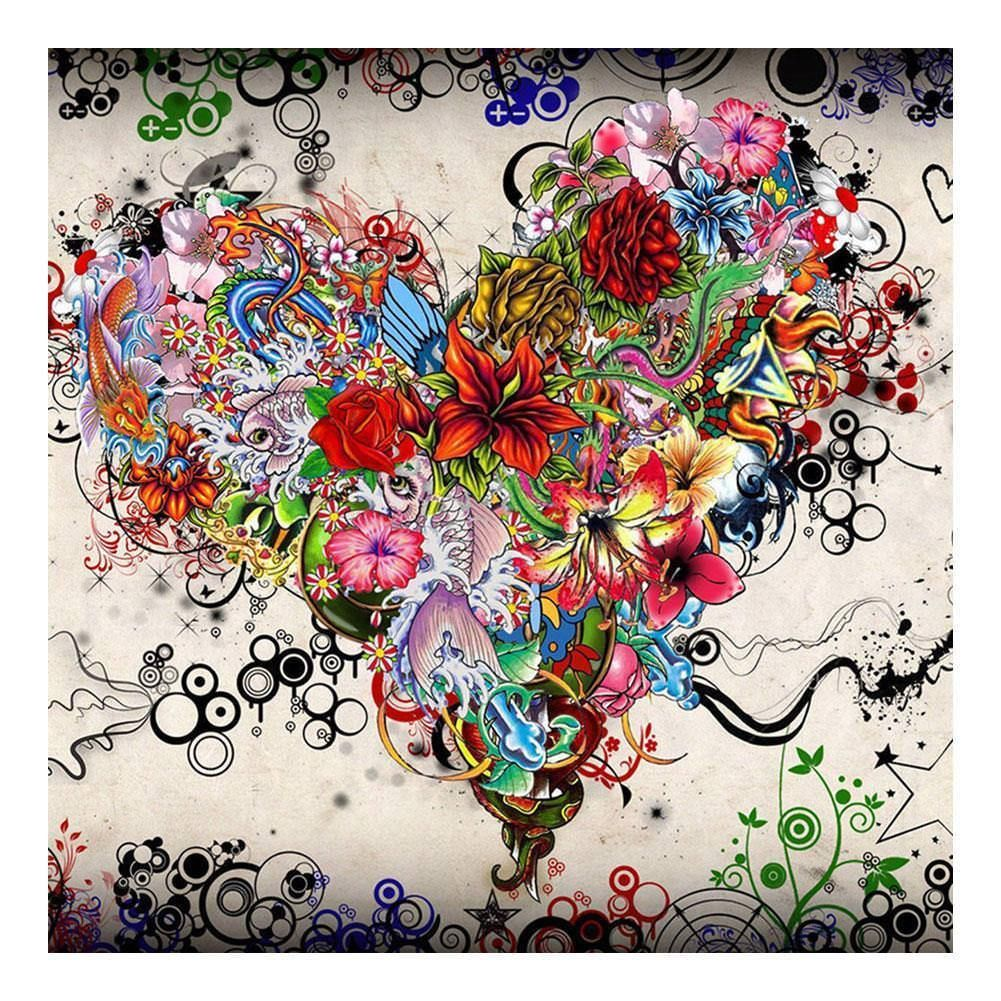 5D Full Drill Flower DIY Diamond Painting Embroidery Cross Crafts Stitch Decor