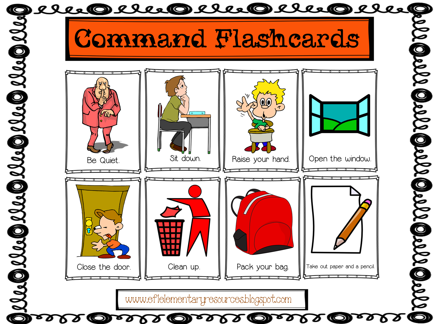 Esl Classroom Commands