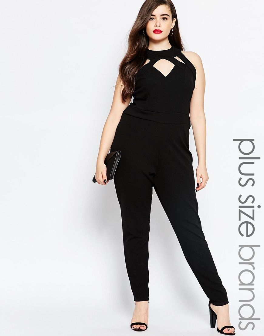 44df9285842 Image 1 of Boohoo Plus Cut Out Jumpsuit