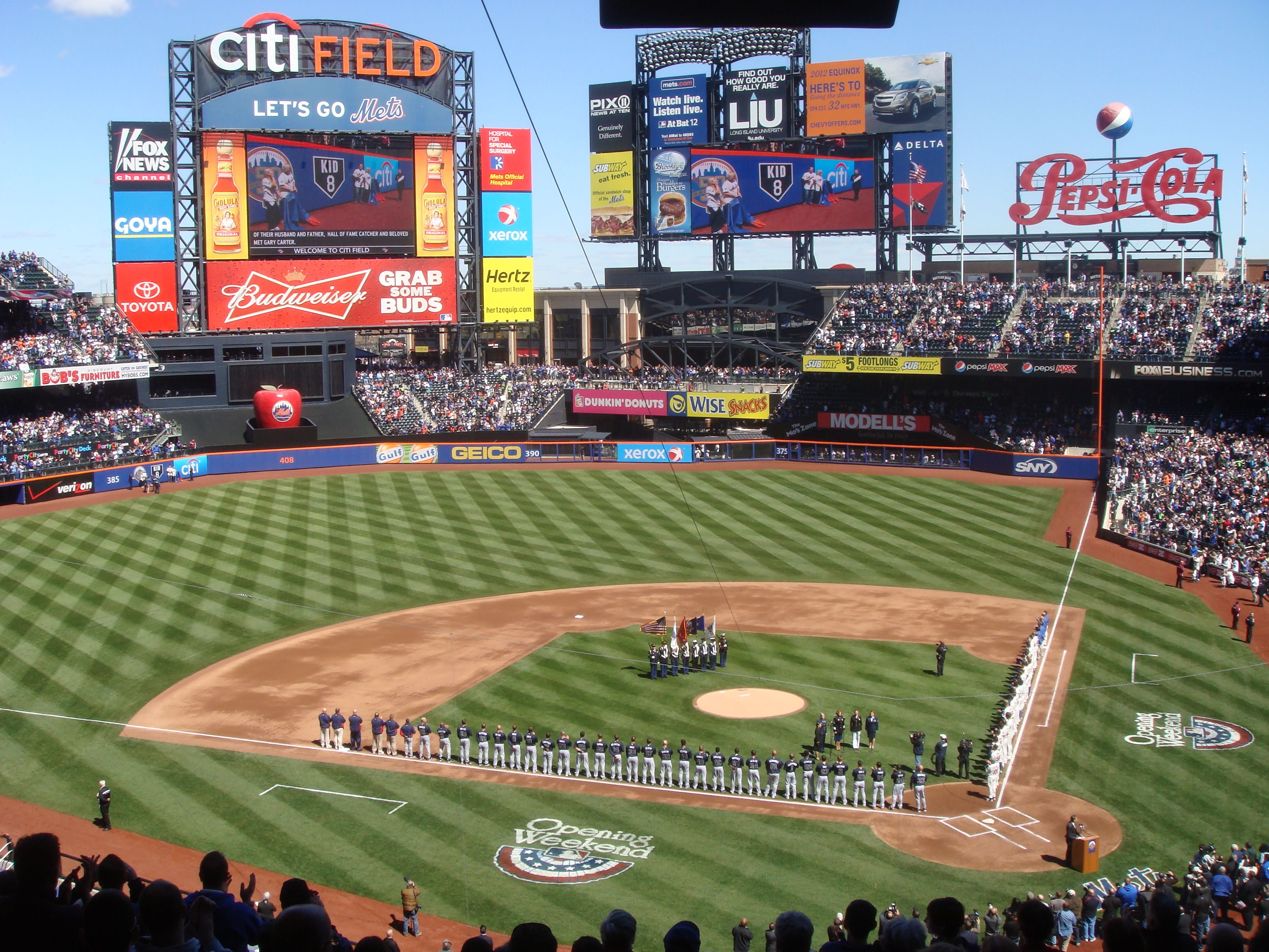 Citi Field is a stadium located in Flushing Meadows–Corona Park in