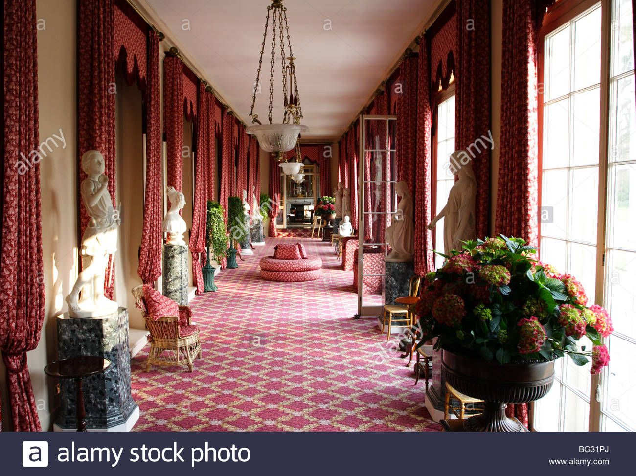 The Colonnade Inside Frogmore House Windsor Home Parkstock Photo