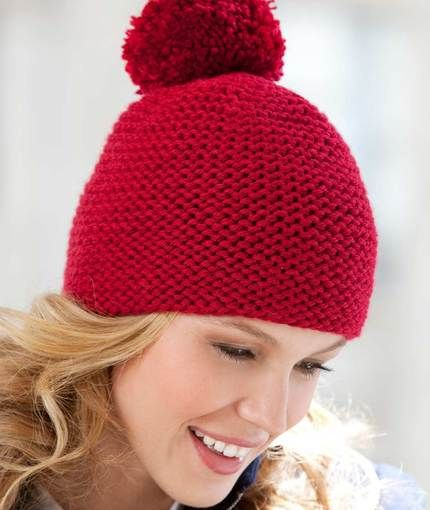 Great Garter Knit Hat Knitting Pattern | Red Heart