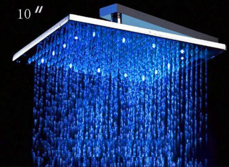 No Batteries This High Tech Rain Shower Head Powers The Led