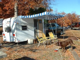 Home Made Awning Finally Finished Pop Up Camper Camping Trailer Backyard