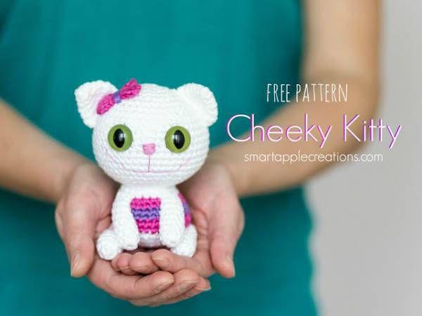 Free Pattern – Amigurumi Cheeky Kitty | Säugetiere, Häkeln und Basteln