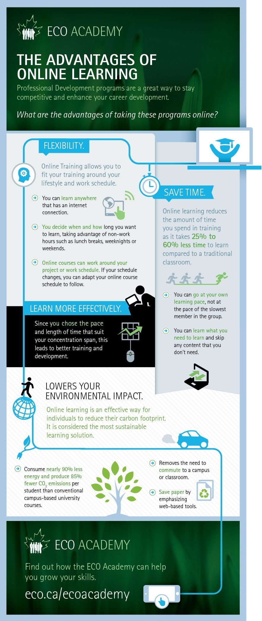 The Advantages Of Online Learning Infographic  ELearning