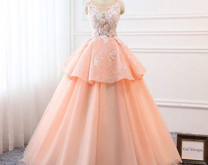 Prom Ball Gown Plus Size Long 2018 Women Formal Dresses