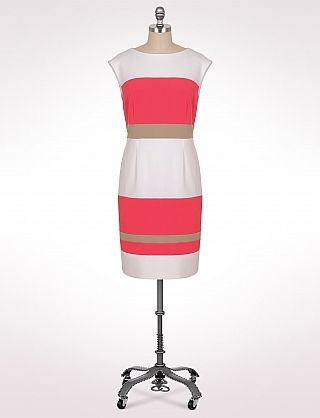 Another alternative since my org plans are falling apart:Plus Size Colorblock Stripe Dress   Dressbarn