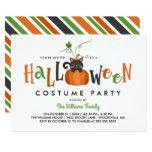Pumpkin Cat - Halloween Costume Party Card #halloween #happyhalloween #halloweenparty #halloweenmakeup #halloweencostume
