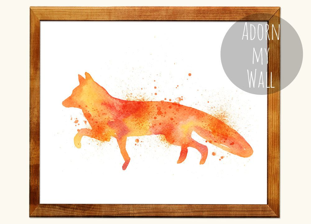 Fox Wall Art 50% off fox print, watercolor fox, fox wall art, fox nursery art