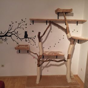 kratzbaum selber bauen1 garten und deko pinterest naturkratzbaum kratzbaum und selber bauen. Black Bedroom Furniture Sets. Home Design Ideas