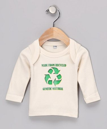 "This is too funny! I love it.Who ever came up with this has a real sense of humor. Finally something funny, and original. ""Recycled Genetic Material"" Organic Tee - Infant by Koko Bean"