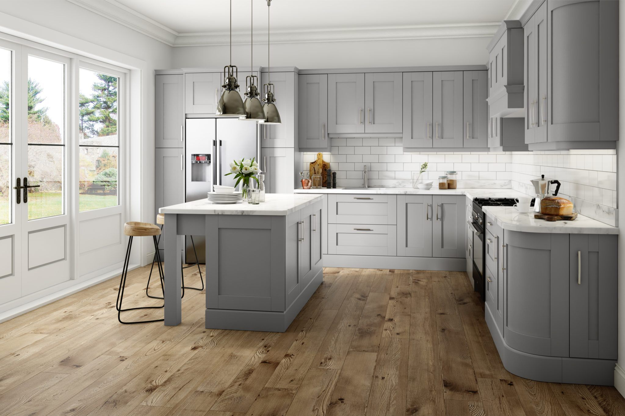 light grey kitchens gray amp green kitchen maple cabinets shaker ideas without doors white on kitchen ideas gray id=84148