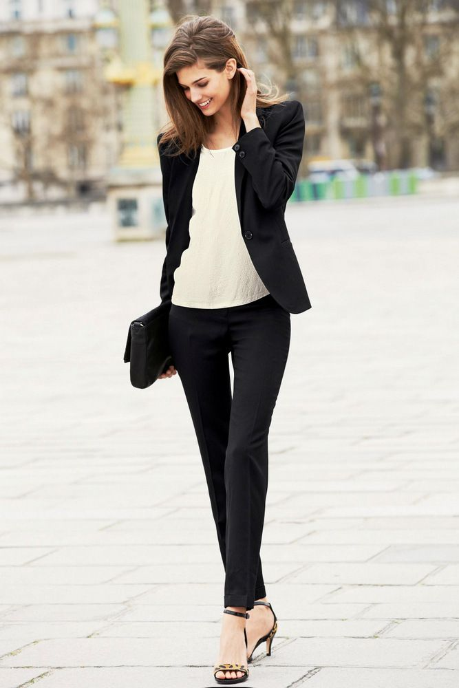 100 Convenient Fall Fashion Ideas for Working Women | Black ...