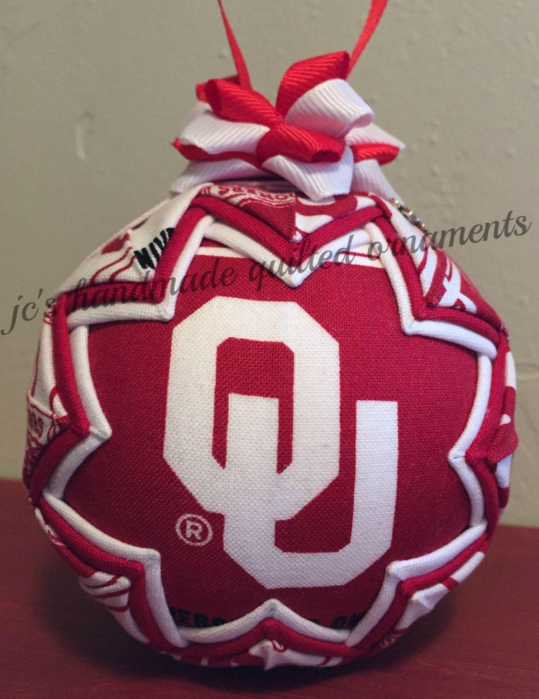 FTH 57470 Oklahoma Sooners Snowman Christmas Ornament