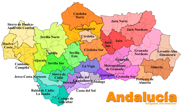 andalucia map Google Search
