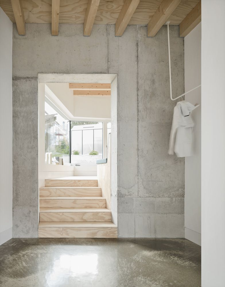Gallery Of Haus D Yonder Architektur Und Design 25 Concrete Interiors Hallway Inspiration Haus