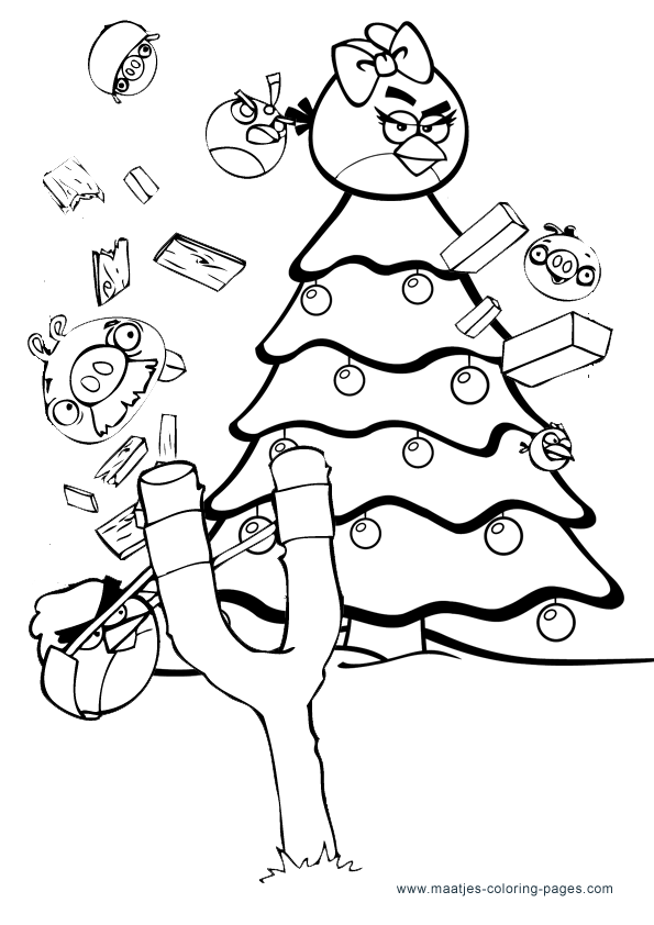 Angry birds to color christmas angry birds coloring pages downloadcoloringpages com - Angry birds noel ...