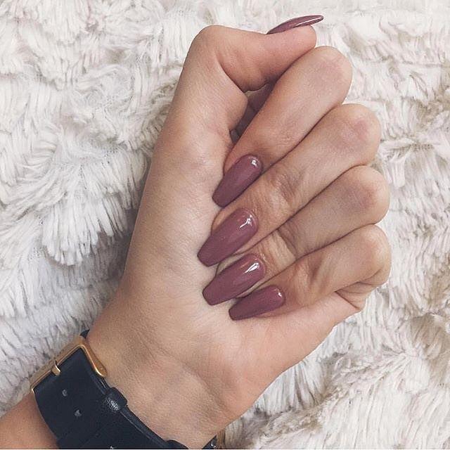 Mauve nails #nails