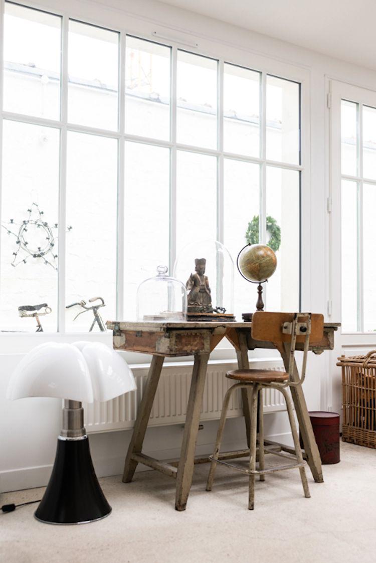 Decoration Vintage Et Rustique Dans Un Ancien Atelier D Artiste Planete Deco A Homes World En 2020 Belle Maison Maison D Hotes Decoration Vintage
