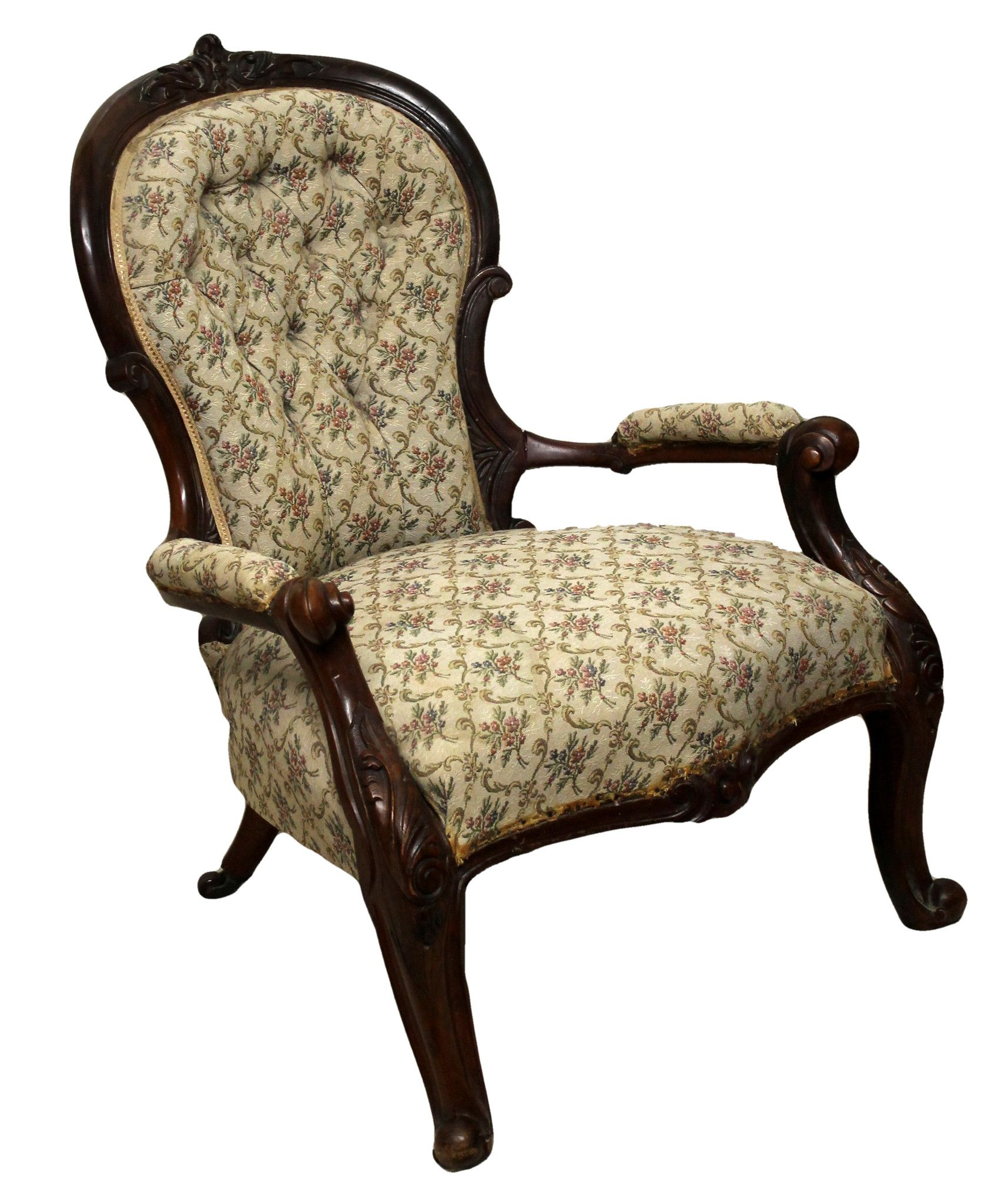 Astounding Victorian Antique Queen Anne Style Spoon Back Armchair Theyellowbook Wood Chair Design Ideas Theyellowbookinfo