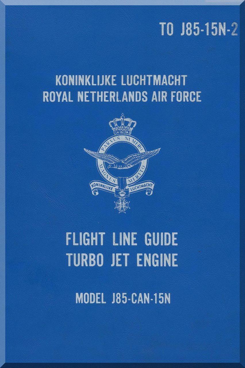 General Electric J85 Aircraft Turbo Jet Engine flight Line