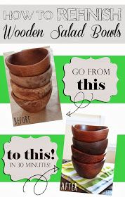 Confessions of a New / Old Home Owner: How to Refinish Wood Bowls